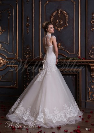 Mermaid wedding dress with lace-3