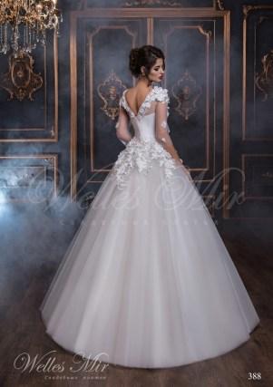 Свадебное платье с V-образным вырезом на спине-3