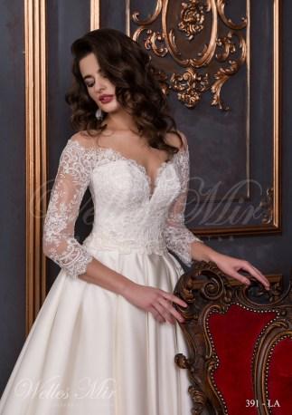 Свадебное платье А силуэта с вырезом-2