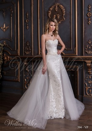 Wedding dress-transformer with embroidery 394-VP