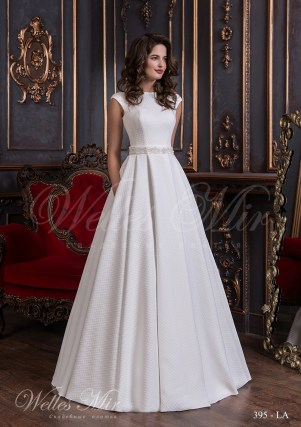 White wedding dress with a textured fabric 395-LA