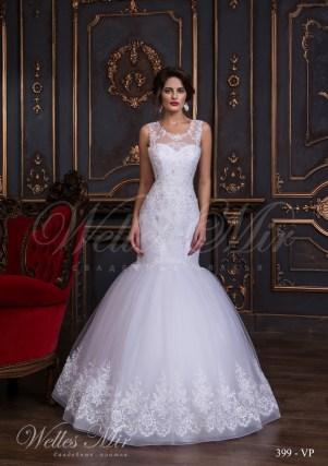 Свадебное платье с фальш-декольте-1