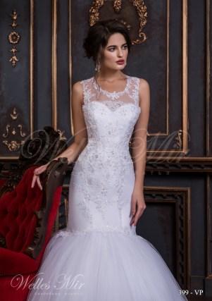Свадебное платье с фальш-декольте-2