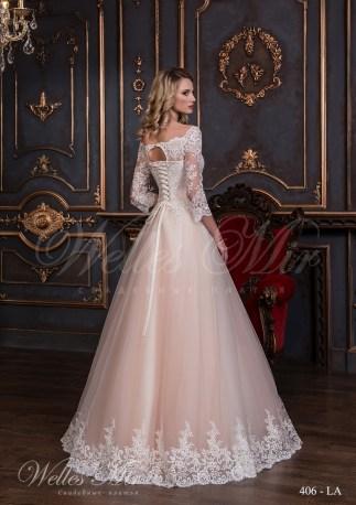 Rochie de mireasa de culoare pudra-3