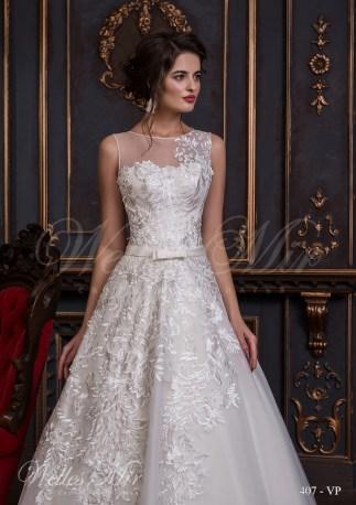 Свадебное платье с крупными аппликациями-2