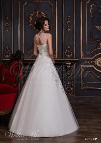 Свадебное платье с крупными аппликациями-3