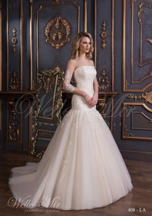 Свадебное платье кремового цвета-1