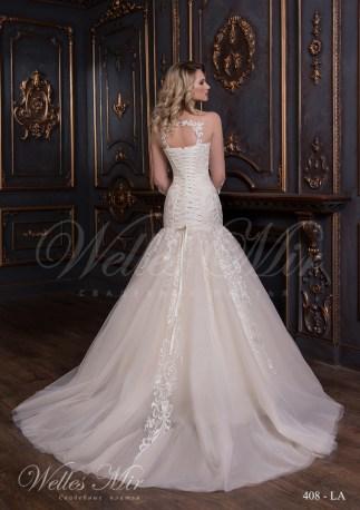 Свадебное платье кремового цвета-3