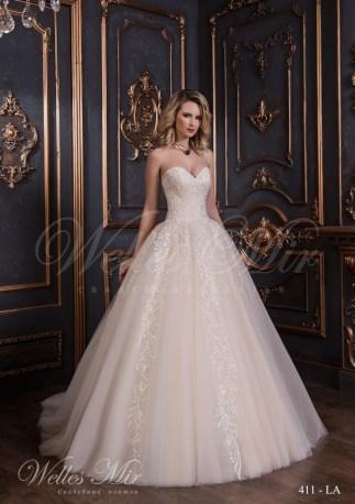 Свадебное платье с расшитым корсетом-1