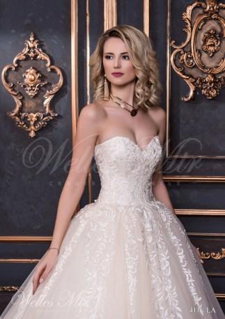 Свадебное платье с расшитым корсетом-2
