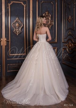 Свадебное платье с расшитым корсетом-3