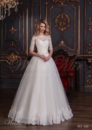 Свадебное платье с короткими рукавами-1