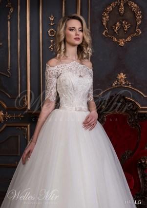 Свадебное платье с короткими рукавами-2
