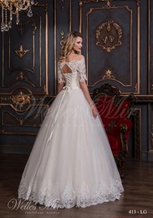 Свадебное платье с короткими рукавами-3