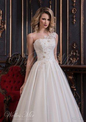 Свадебное платье с прямым декольте-2