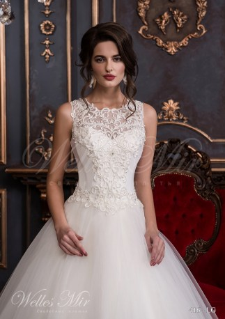 Свадебное платье с гипюровым фальш-декольте-2