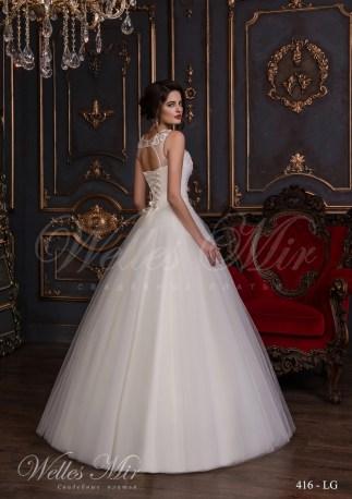 Свадебное платье с гипюровым фальш-декольте-3