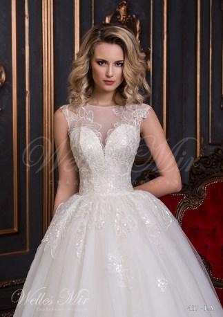 Свадебное платье с цветочным узором-2
