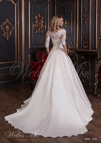 Свадебное платье с рукавами средней длины-3
