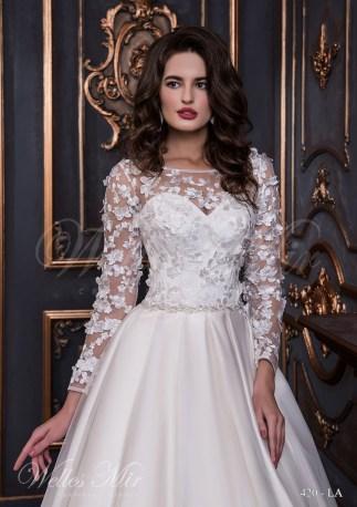 Свадебное платье с маленькими складками-2