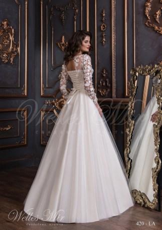 Свадебное платье с маленькими складками-3
