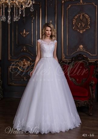 Свадебное платье с аппликацией сердечко-1