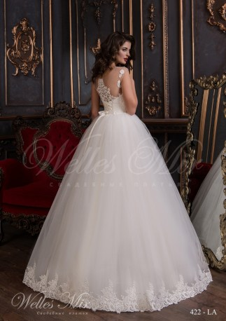 Wedding dress with lace corset-3