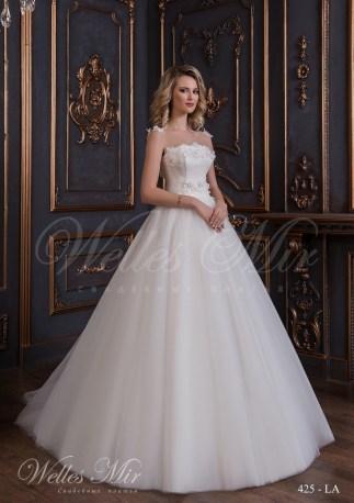 Свадебное платье с цветами из ткани-1