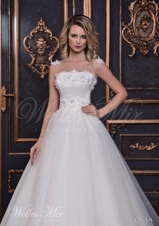 Свадебное платье с цветами из ткани-2
