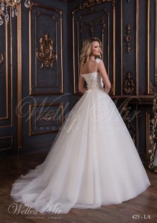 Свадебное платье с цветами из ткани-3