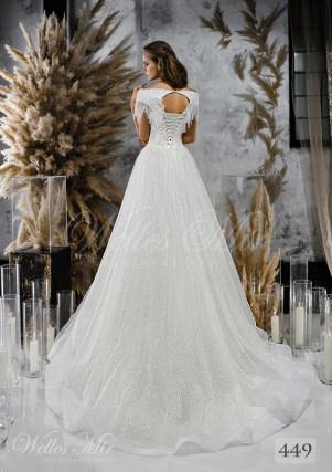 Пышное свадебное платье с открытыми плечами оптом-2