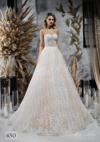 Кремовое свадебное платье с расшитым корсетом оптом-1