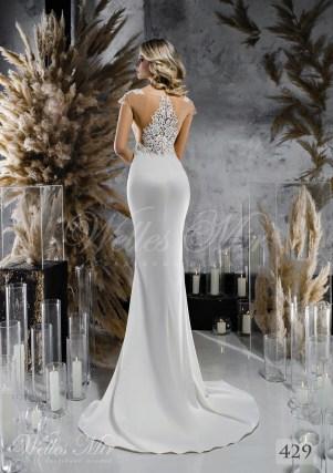 Атласное свадебное платье по фигуре оптом-2