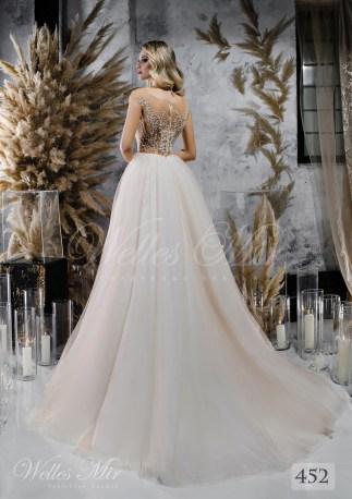 Свадебное платье с расшитым верхом на телесной основе оптом от WellesMir-2