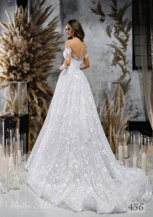 Clasica rochie de mireasa dantela de WellesMir-2