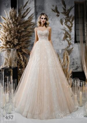Свадебное платье оттенка капучино от WellesMir-1