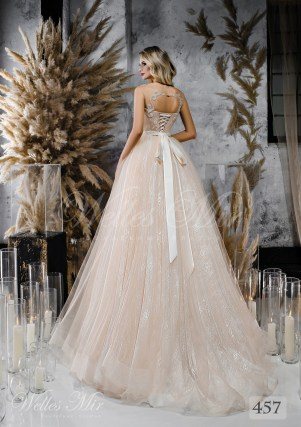 Свадебное платье оттенка капучино от WellesMir-2