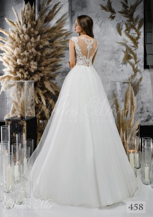Wedding dress A-line with a light corset-2