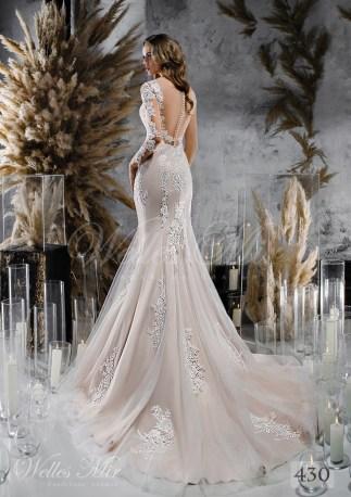 кружевное свадебное платье русалка купить оптом-2