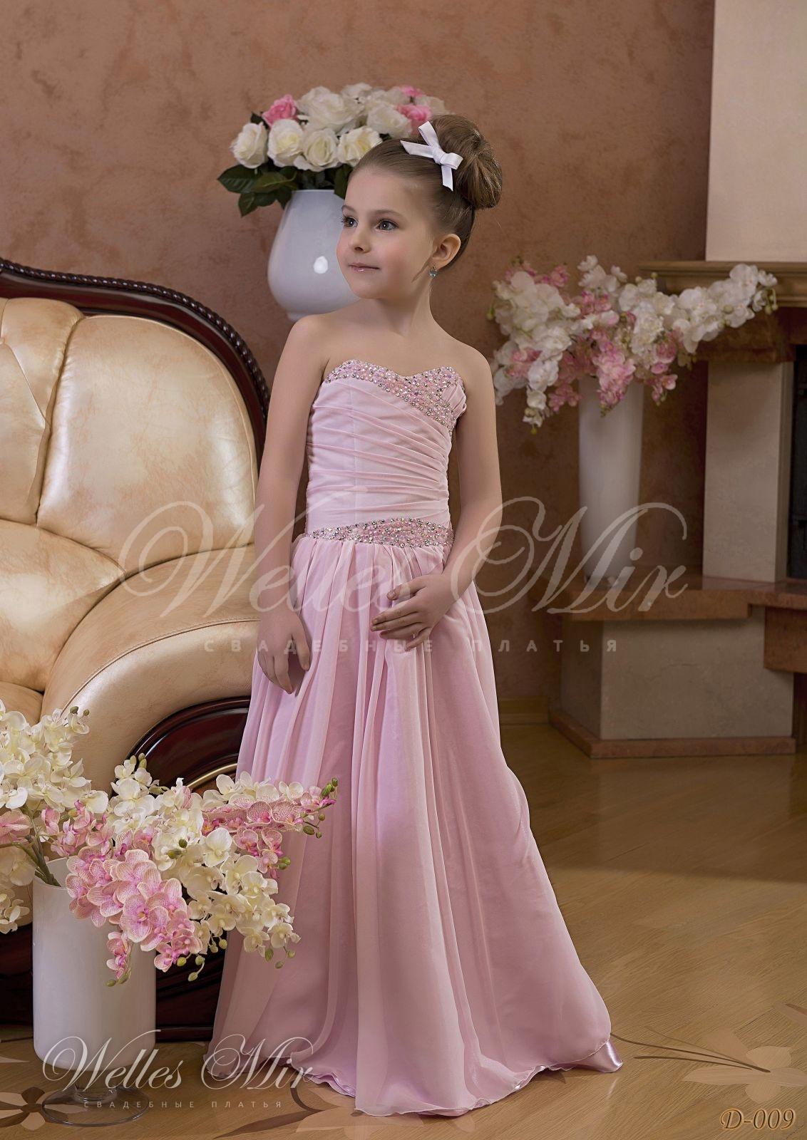 Детское розовое платье