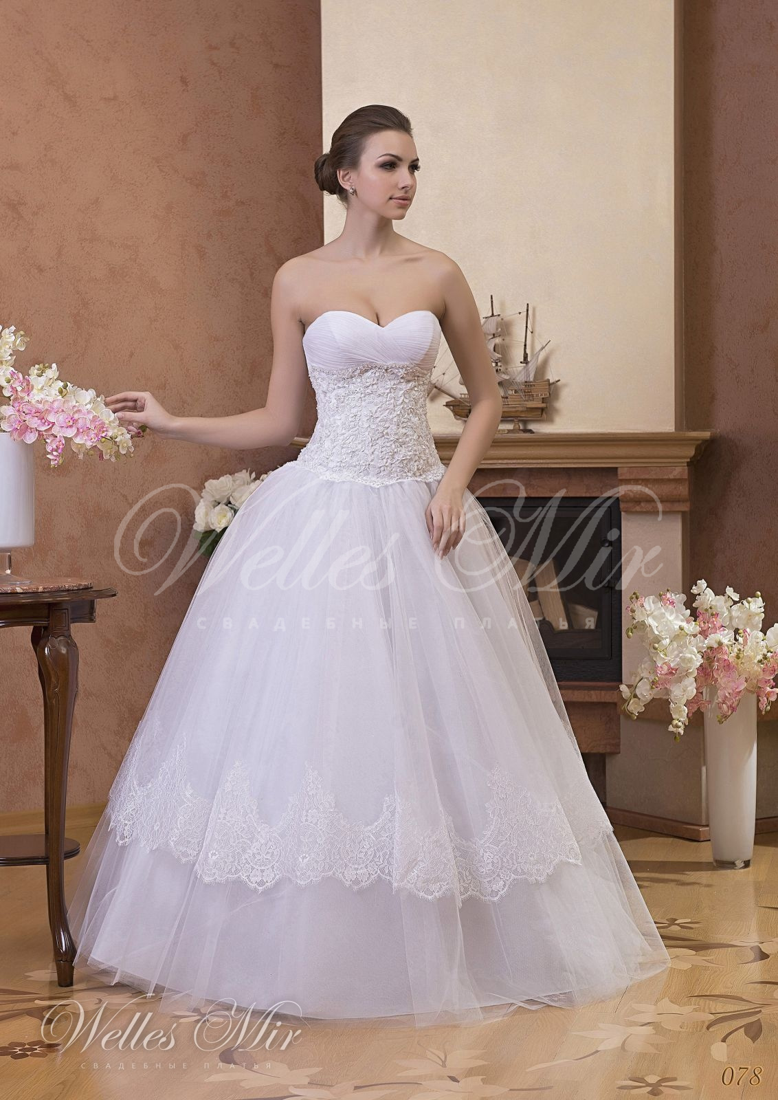 Свадебные платья Gentle Rose - 078