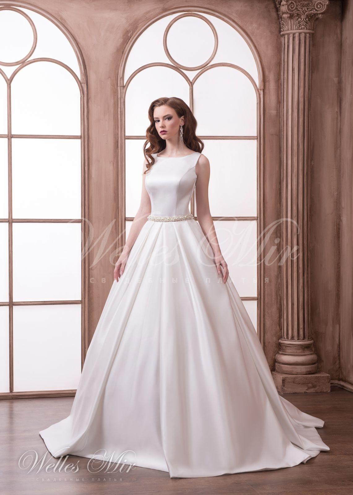 Гладкое свадебное платье