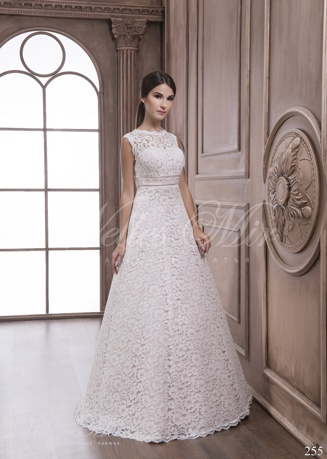 A-line silhouette wedding dress 255