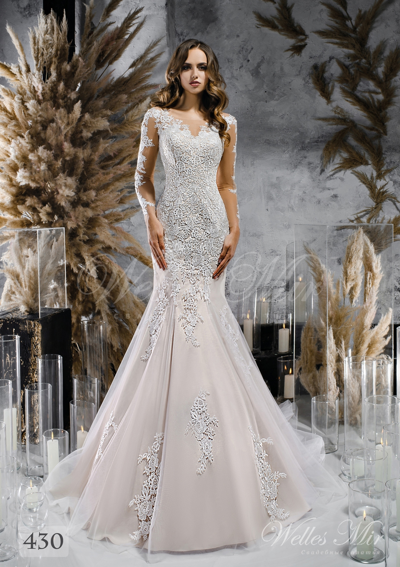 lace wedding dress mermaid  purchase wholesale 430
